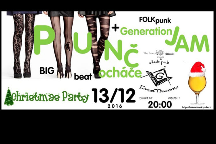 Punčocháče a GenerationJam - FreeMasonic Club Pub - 13.12.2016